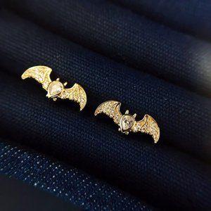 Apm Monaco Gold Bat Stud Earrings